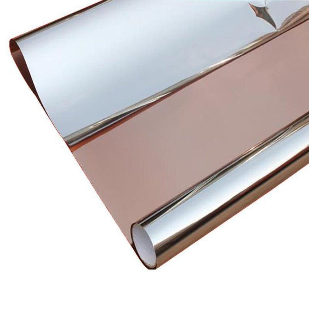 HOHOFILM 1x3 m Film de fenêtre miroir unidirectionnel brun et argent feuille de verre isolation thermique teinte solaire Film de fenêtre 39.37 ''x 118''