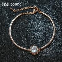 2018 New Wholesale Good Quality Bracelet Femme Shiny Luxury Crystal Cubic Zirconia Bangle Bracelets For Women