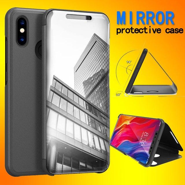 online store 13e72 a814c US $4.24 15% OFF|For Xiaomi mi a2 lite Redmi 6 Pro smart flip cover Phone  Case For Xiaomi Redmi 6Pro S2 luxury mirror flip case Stand Cover-in Flip  ...