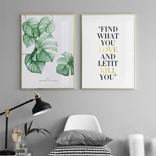 Canvas Painting Nordic Poster And Prints Botanical Quote Wall Picture for Living Room Decoration Pictures