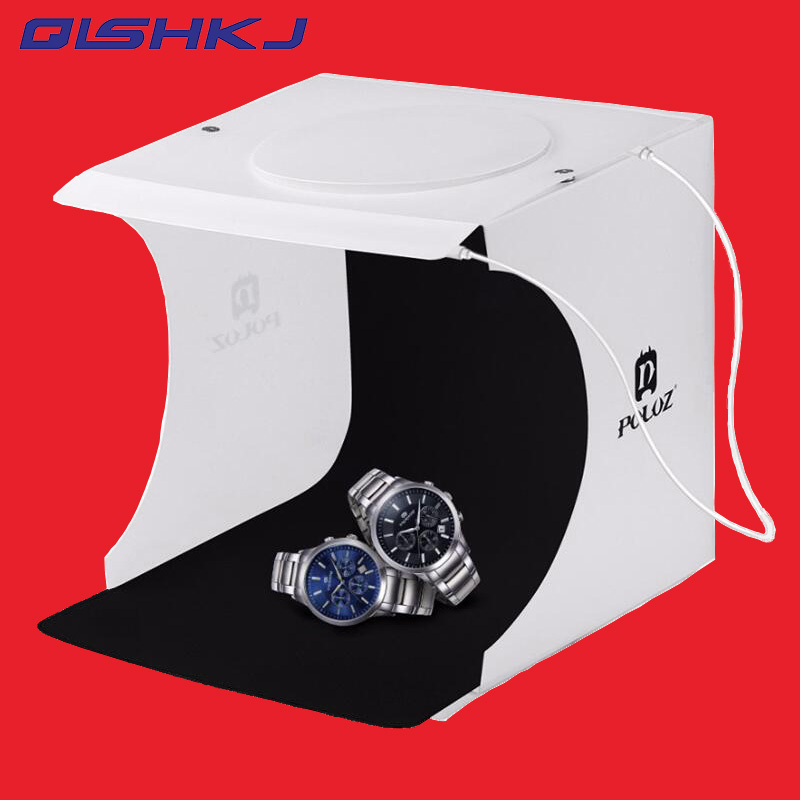 20*20cm 8 Mini Folding Studio Diffuse Soft Box Lightbox With Led Light Black White Photography Background Photo Studio Box Photo Studio Accessories Consumer Electronics