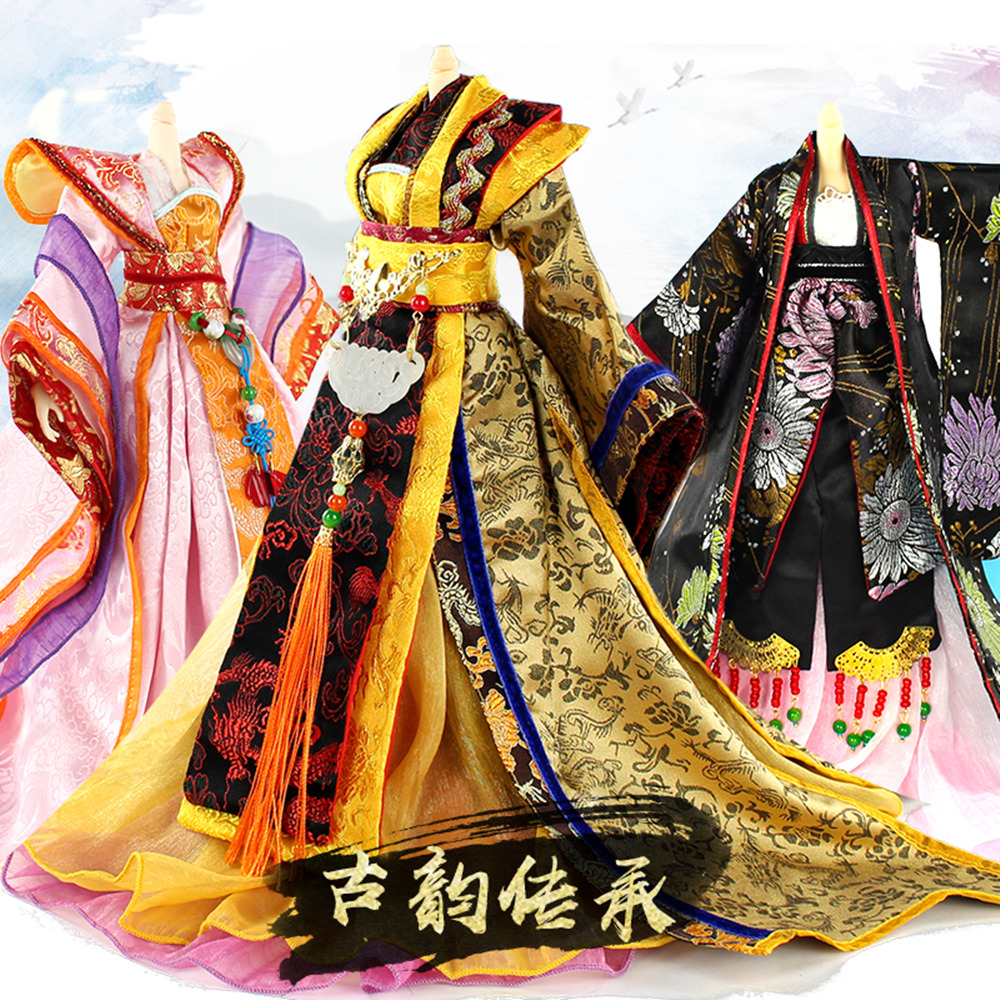 Trainning & Exercise Sets Enthusiastic Fortune Days For 1/4 East Charm Doll 35cm Highly Chinese Costume Set High Quality Blyth Reborn Girls Toy Gifts Elegant In Style