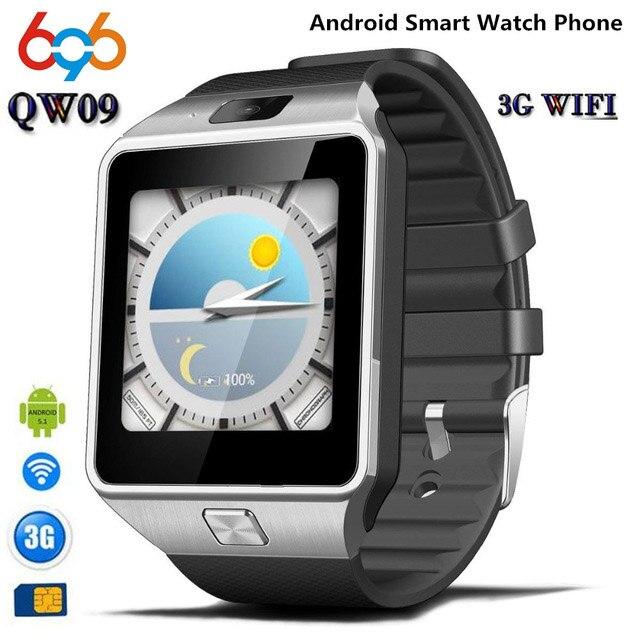 696 QW09 montre intelligente réveil Bluetooth Fitness Tracker Support de téléphone Mobile jouer magasin télécharger APP Smartwatch