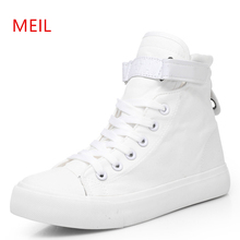 Women Canvas Shoes High Top Sneakers Women Casual vulcanized Shoes 2019 New Female Canvas Sneaker Fashion Girl's Leisure Flats недорого
