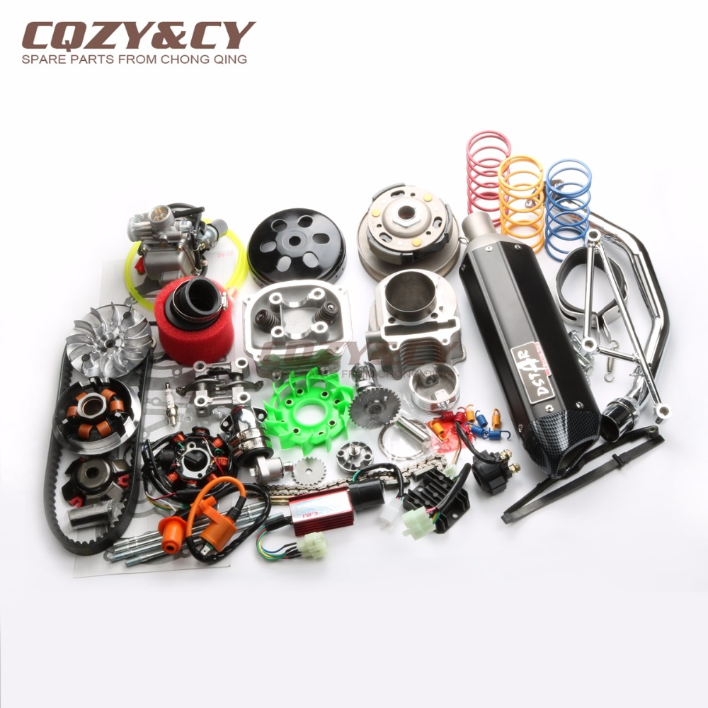 Mm Cc Big Bore Performance Kit Gy Cc Qmj Chinese Scooter Parts Black on Gy6 150cc Engine Performance Parts