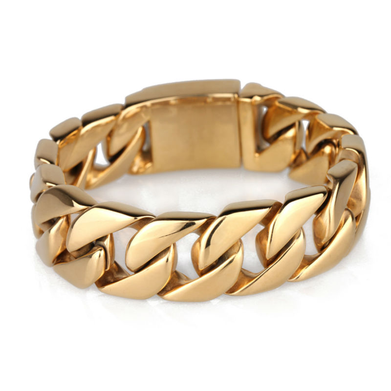 the most affordable prices USA style yellow gold color big heavy titanium bracelets bangles for men лонгслив printio идол звезда ego sun