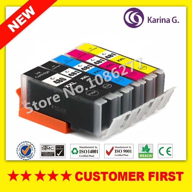 цена на Compatible for Canon PGI-480 CLI-481 PGI480 CLI481 Ink Cartridge Suit For Canon PIXMA TR7540 TR8540 TS6140 TS8140 TS9140