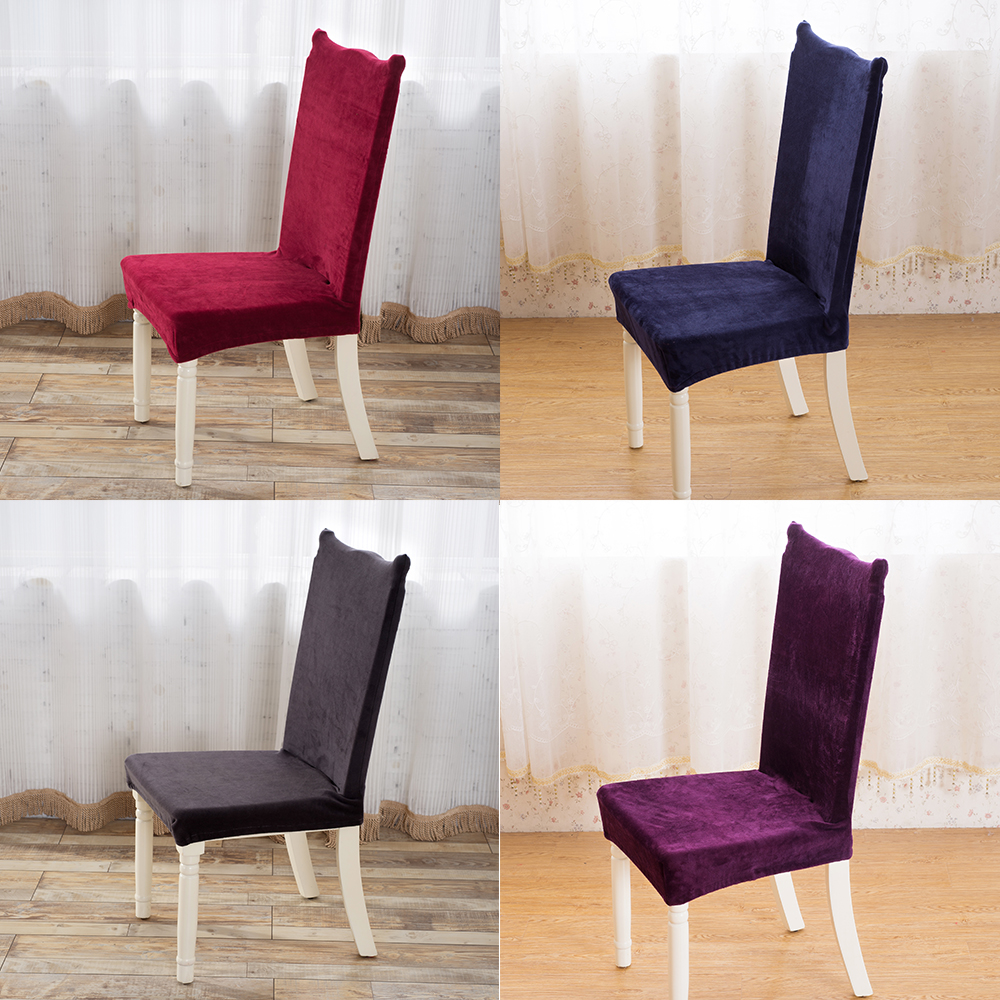 24 Color Plush Universal Elastic Cloth Chair Covers China For Weddings  Decoration Party Chair Covers Banquet Dining Chair Covers In Chair Cover  From Home ...