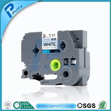 PUTY совместимые этикетки ленты p-touch TZ2-251 tze251 лента 24 мм * 8 м лента tze-251 Tze-251 для устройство для печатания этикеток оптовая продажа с фабрики