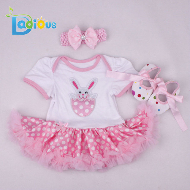 christmas dress baby clothing girls clothes winter easter eggs rabbit newborn 3 6 months baby