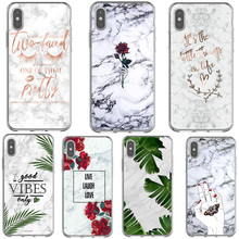 Flower Leaf Print Pineapple Marble Geometric Hard Back Cover Phone Cases For iPhone X 5 5S SE 6 6S Plus 7 8 XS Max XR