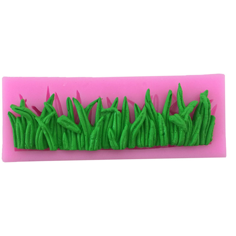 M024 Green Grass Candy Mold Cake Decoration Tool Fondant Chocolate Silicone Baking Molds Kitchen Decorative Tools image