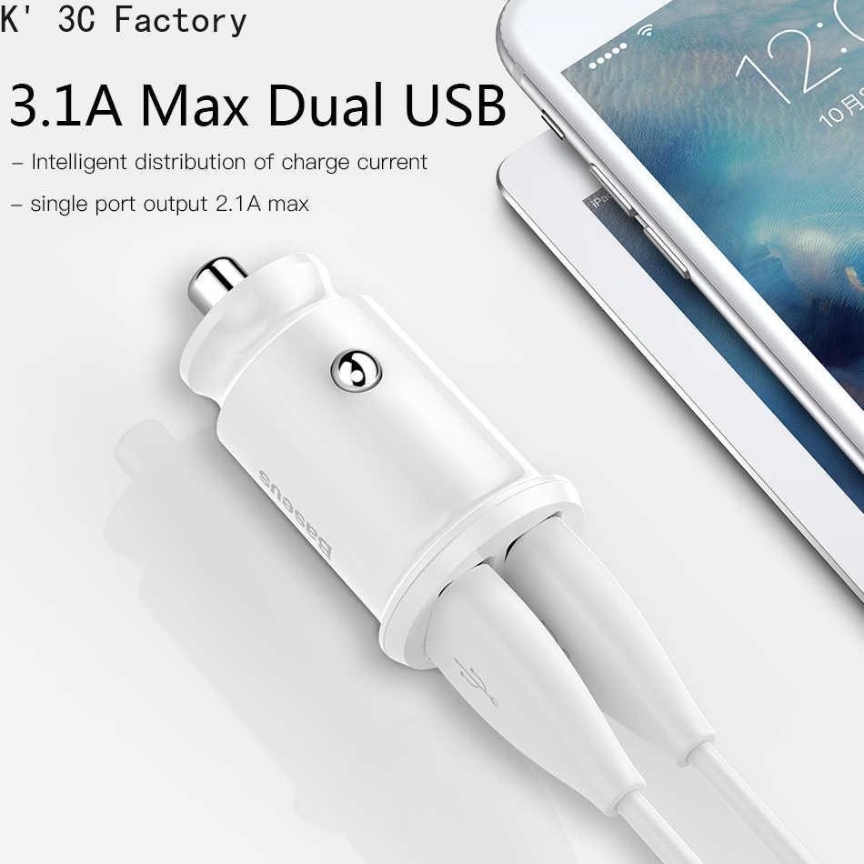 Mini chargeur de voiture USB K' 3C pour iPhone X Xs Max 8 7 6 Xiaomi Redmi Note 7 double chargeur de téléphone de voiture USB double chargeur de téléphone de voiture USB