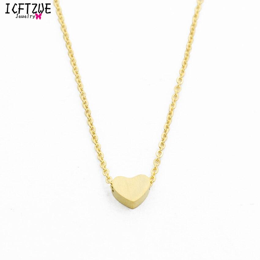 335e1b182961e Dianshangkaituozhe bff المقاوم للصدأ سلسلة بيان قلادة للنساء الذهب القلب  القلائد المعلقات الأزياء والمجوهرات erkek kolye