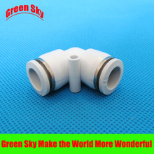 6 pcs/lot 12mm to 12mm OD tube L shaped push in elbow air tube fittings цена и фото