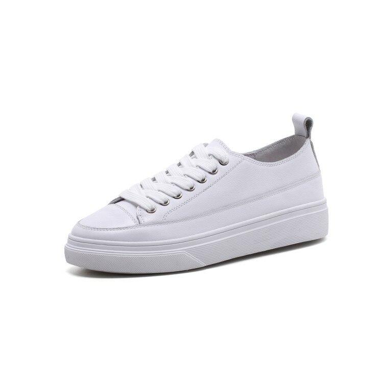 Inferior 35 Real Sapatos Beige Nuevo Mocasines Venir white Plataforma Casual Mujeres Zapatos 39 2018 Blanco Cuero Stylesowner Up Zapatillas Ocio Lace nSqTOAn