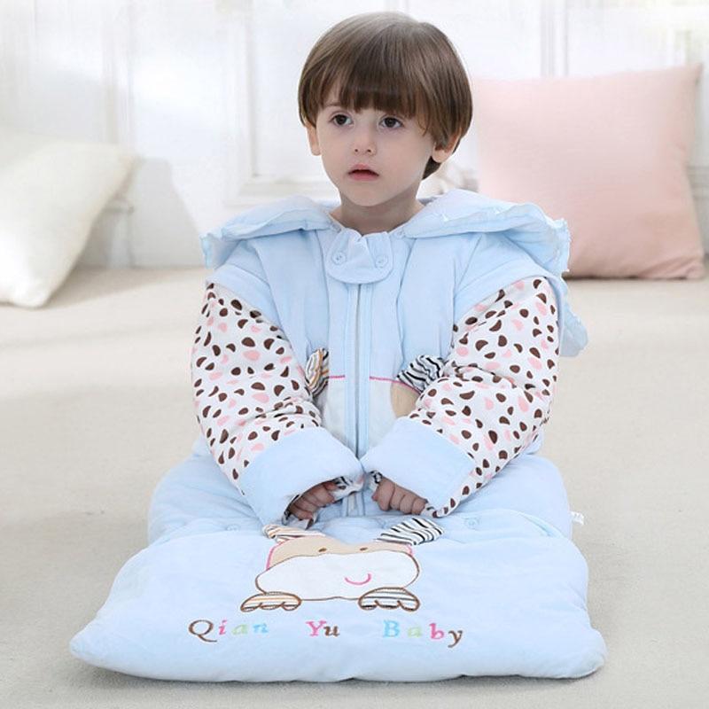 Baby Sleeping Bags Kids Sleeping Sack Detachable Sleeve