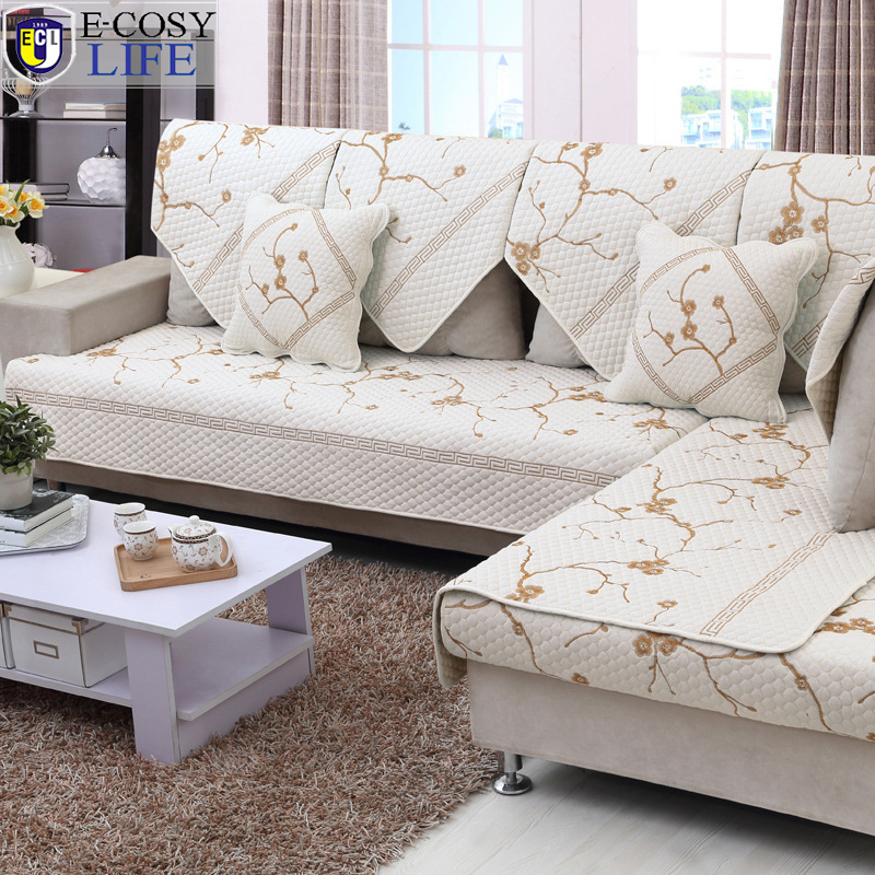 Quality Sofa Covers High Quality Sofa Cover Plaid  : Wholesale Quality Cotton Embroidery Sofa Cover Seat Cushion Quilted Home Textile Fashion Couch Covers Slipcover Backrest from thesofa.droogkast.com size 800 x 800 jpeg 556kB