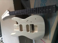 free shipping body and neck 7 strings electric Guitar Unfinished Kits 7 string DIY guitar kit not including hardware