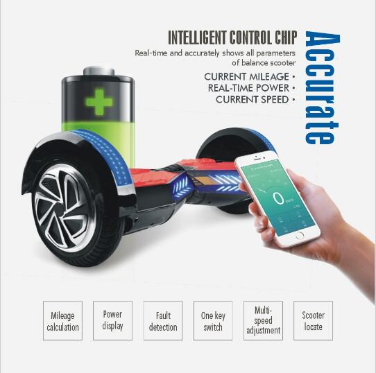 8 inch APP Smart Electric Skateboard 2 Wheel Self Balancing Scooter Hoverboard Bluetooth Speaker LED light stand up scooter 8 inch hoverboard 2 wheel led light electric hoverboard scooter self balance remote bluetooth smart electric skateboard