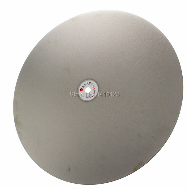 16 inch 400mm Grit 1200 Fine Electroplated Diamond coated Flat Lap Disk Grinding Polish Wheel Jewelry Glass Rock Tile Ceramics