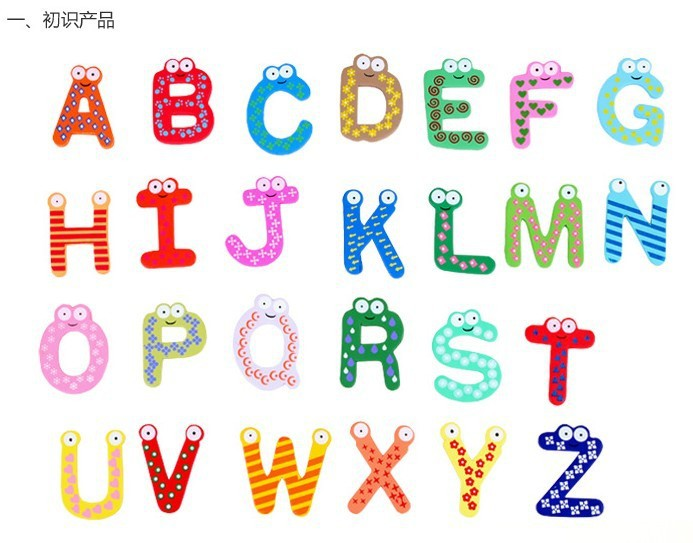 Fridge magnet whiteboard picture more detailed picture about lovely colorful 26 letters wood fridge magnets early childhood education a b c d e f g h i j k l m n o p q r s t u v w x y z sciox Gallery