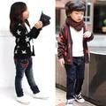 Boys Girls Kids Cotton Long Sleeve Stars Print Cardigan Coat Jacket Outerwear