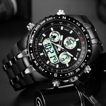 2018 Top Brand Luxury Fashion Chronograph Sport Mens Watches LED Digital Quartz Watch Reloj Hombre Male Clock  relogio Masculino 1