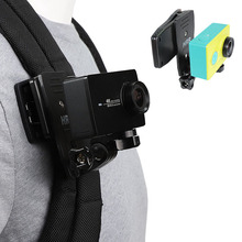Suporte de mochila rotativo rec-mounts, clipe para xiaomi yi 4k xiaoyi lite mi mijia 4k mini câmera esportiva do gopro sjcam