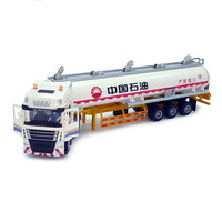 1:50 alloy tanker Sinopec China Petroleum alloy engineering truck transport vehicle model semi trailer truck toy car W112