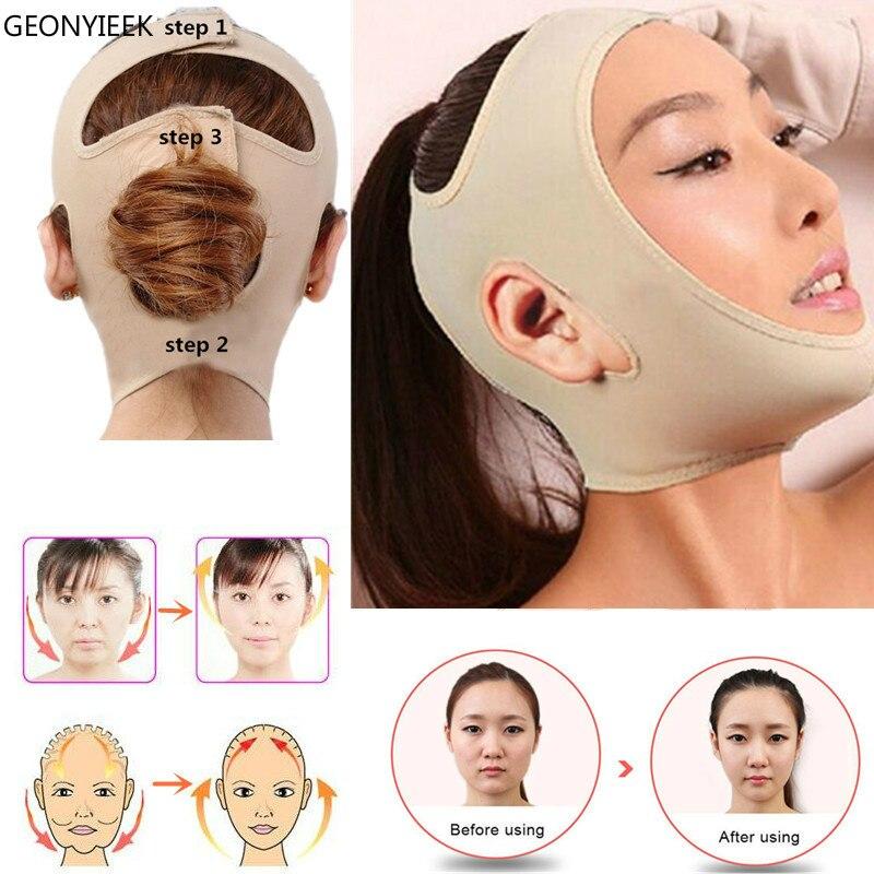 Masque Facial mince délicat amincissant la forme de ceinture de soin de peau de Bandage et ascenseur réduisent la bande de amincissement de visage de masque de visage de Double menton