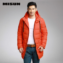 Misun 2017 medium-long brief with a hood thickening male down coat men's  warm jackets Thicker