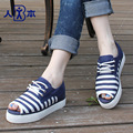 Summer Lace-up Time-limited 2016 Autumn Shoes New Arrival Shallow Mouth Canvas Fashion Designer Female Breathable Casual Flat