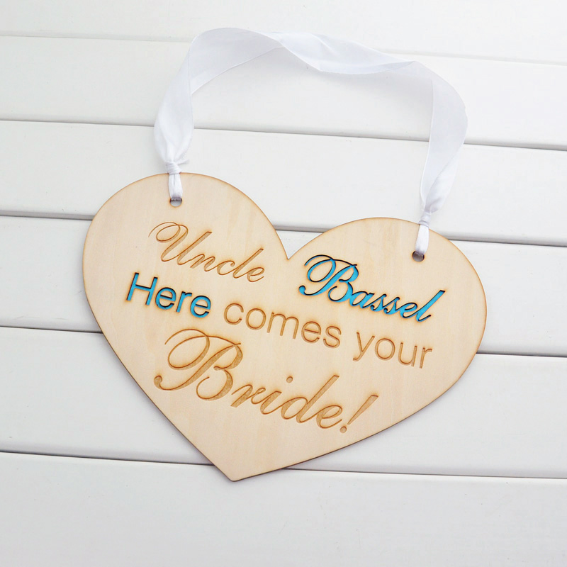 Personalized wedding sign Rustic Wooden Wedding Signs Here comes your Bride