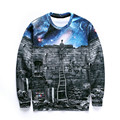 Women Men Sweats Sudaderas Space Pullovers Moleton Hoodies Sexy Sweatshirts Print 3D Galaxy Sweatshirts Jumper pull camisolas