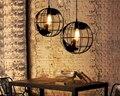 30 CM Ferro Cafe Bar Restaurante Iluminação globo esférico pingente lâmpada AC110-240V