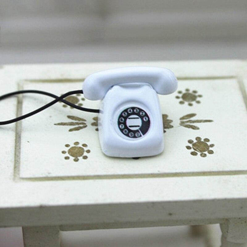 Dollhouse miniature scene model dollhouse accessories mini fixed telephonNWUS