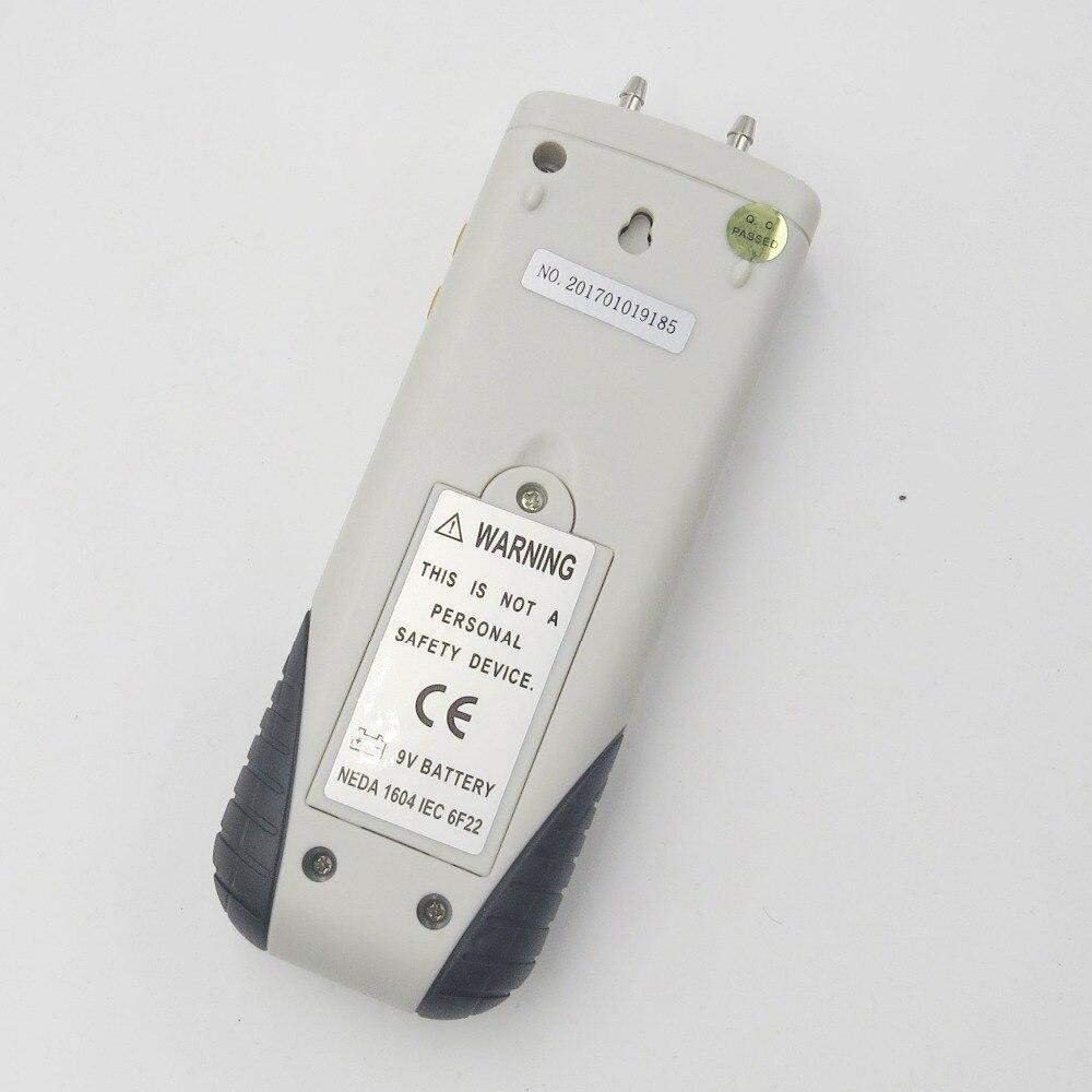 Новый HT-1890 цифровой манометр измеритель давления воздуха Дифференциальный Манометр комплект 55H2O до + 55H2O Удержание данных medidor presion