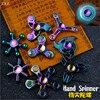 Genji Ow Hand Spinner Gyroscope Metal Fidget Spinner Tri Spinner Rainbow Colorful EDC Gyro Toys Spinning