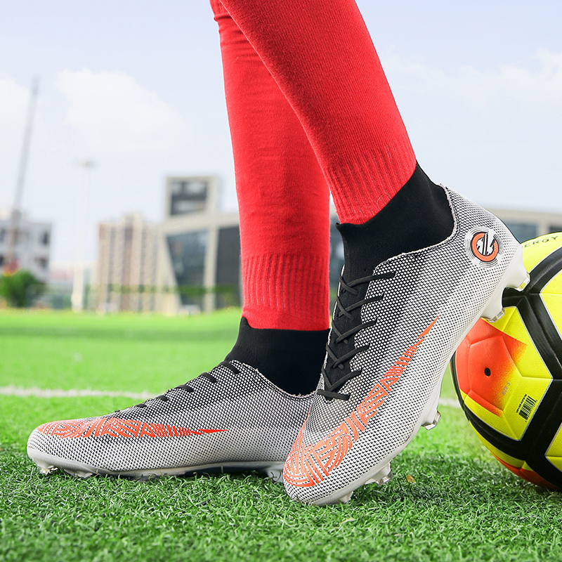 7f4c50b9e Aliexpress.com : Buy Man Football Sneakers Spring Autumn Mens Football Turf  Cleats Lightweight Shoes Long Spikes Male High Top Soccer Shoes from  Reliable ...