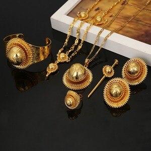 Image 4 - Ethiopian Jewelry Set Hair Piece Hair Pin Women Fashion Eritrea Habesha African Jewelry Set