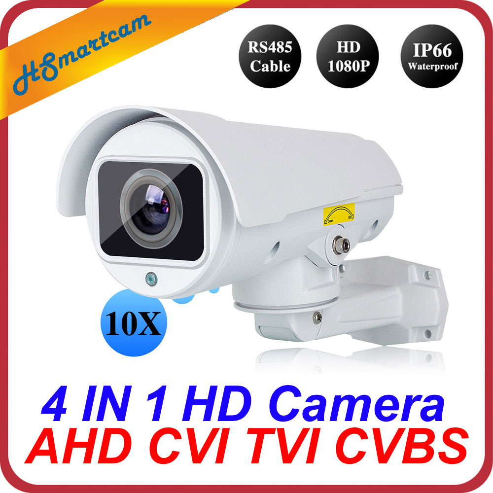 4in1 CVI TVI CVBS AHD 1080P 4x Zoom Mini PTZ Bullet Camera IR Outdoor Full HD
