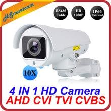 4in1 CVI TVI CVBS AHD 1080P 4x Zoom Mini PTZ Bullet Camera IR Outdoor Full HD 2.0MP 10x Auto Focus Zoom 5-50mm Varifocal ptz cam