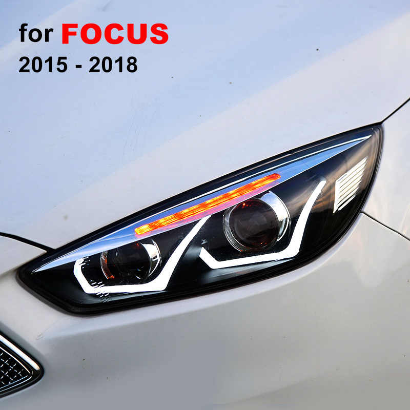 Headlight Embly For Ford Focus 2017 2016 2018 Left Right With Led Drl Running Light