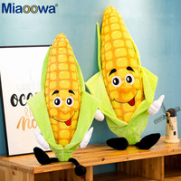 1pc 80/100cm Giant Simulation Corn Plant Stuffed Plush Doll Creative Corn Funny Expression Baby Soft Cushion Toy For Children