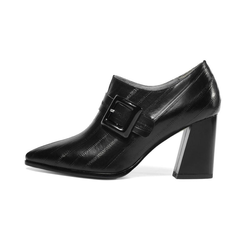 Femmes Chaussures Cuir khaki Véritable Black À Plateforme Bal Carré Hauts Pointu Bout Talon De Haut Talons En Partie Aiweiyi Robe Pw0qSEx