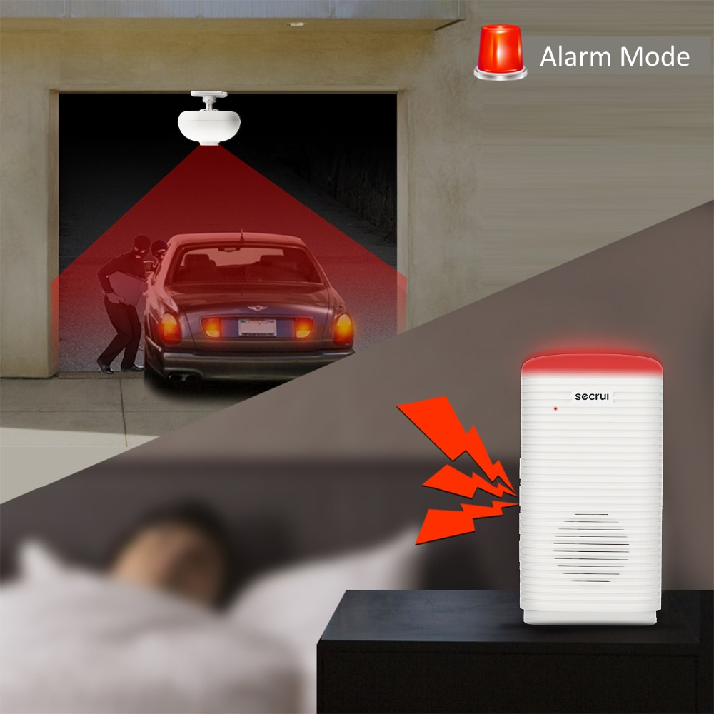 Capteur de mouvement alarme maison capteur infrarouge PIR alarme antivol détecteur de mouvement alarme de Garage Zwave étanche système d'alarme GSM DW9