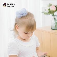 цена на Chiffon Flower Hairpin Children Hair Clip Kids Girls Hairclips Headdress Barrette Headwear Hair Accessorises