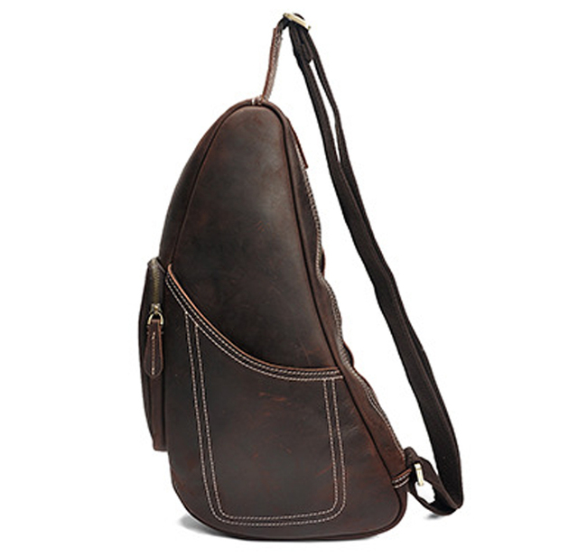 Vintage Genuine Leather Shoulder Bags men Leather Messenger Bags men  Crossbody bag sling Leisure Bag male saddle brown b161ef95f3073