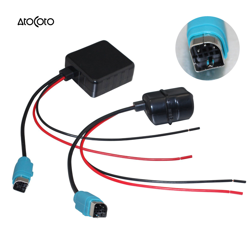 Car Bluetooth Wireless Module For Alpine Radio Stereo Aux Cable Cde 9881 Wiring Harness Adapter With Filter Audio Input 101e 102e 237bt In Cables Adapters Sockets From